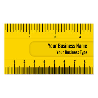Yellow Ruler or Yardstick Technical Industry Double-Sided Standard Business Cards (Pack Of 100)