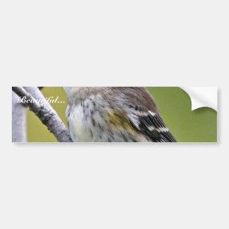 Yellow-rumped Warbler Car Bumper Sticker