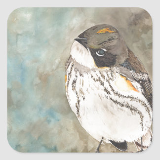 Yellow-rumped Warbler Square Sticker