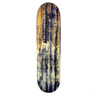 Yellow Rusted Metal Skateboard
