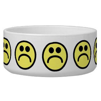Yellow Sad Smiley Face Bowl