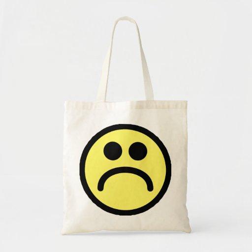 Yellow Sad Smiley Face Budget Tote Bag