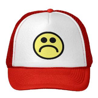 Yellow Sad Smiley Face Trucker Hats