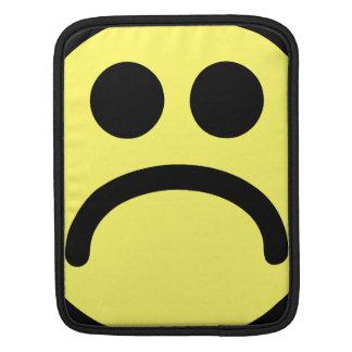 Yellow Sad Smiley Face iPad Sleeve