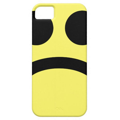 Yellow Sad Smiley Face iPhone 5 Cases