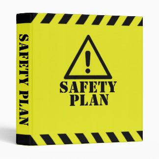 Yellow Safety Plan 3 Ring Binder