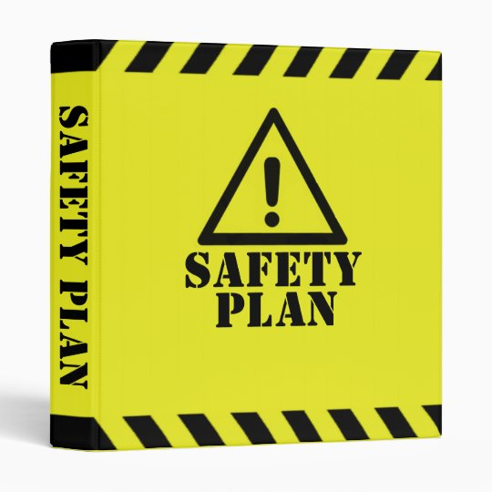 Yellow Safety Plan  Ring Binder  ZazzleCom