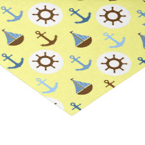Yellow Sailboat Pattern Tissue Paper