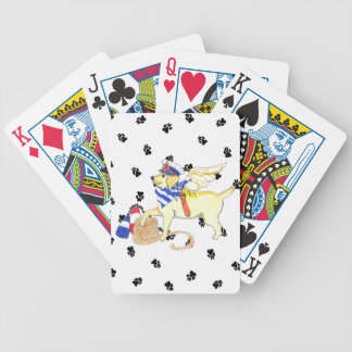 Yellow Sailor Lab Playing Cards