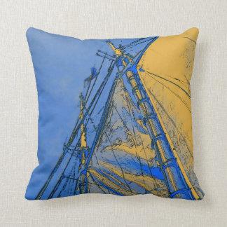 Yellow Sails @ Sea, pillow