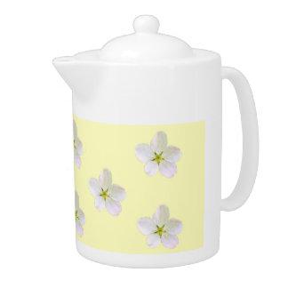 Yellow Sakura 1 Teapot