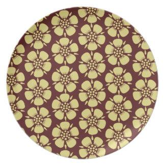 Yellow Sakura Blossoms Plate