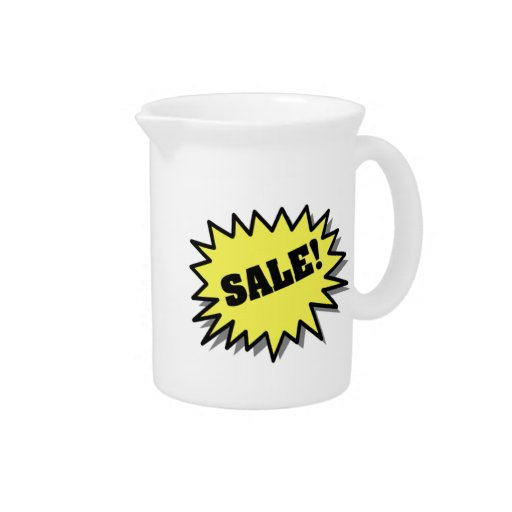 Yellow Sale Drink Pitchers