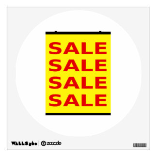Yellow Sale Sign Wall Sticker