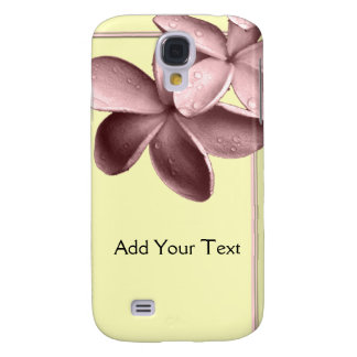 Yellow Sand and Pink Plumeria Samsung Galaxy S4 Case