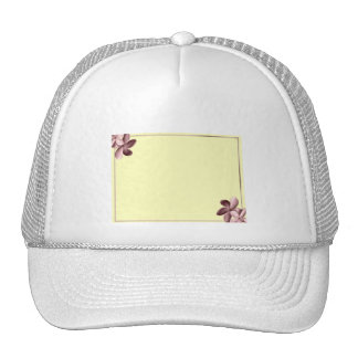 Yellow Sand and Pink Plumeria Trucker Hat