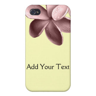 Yellow Sand and Pink Plumeria iPhone 4 Covers