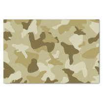 Yellow sand camo camouflage army pattern tissue paper