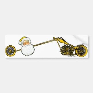 Yellow Santa Claus Car Bumper Sticker
