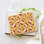 Yellow santa pattern jumbo cookie
