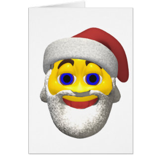 Yellow santa smiley card