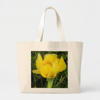 Yellow Satin Blossom Canvas Bags