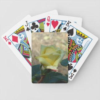 Yellow Satin Playing Cards