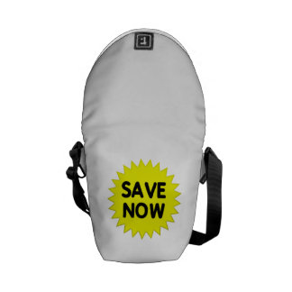 Yellow Save Now Courier Bag