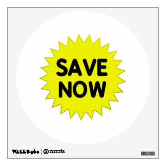 Yellow Save Now Wall Sticker