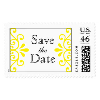 Yellow Save the Date Stamp