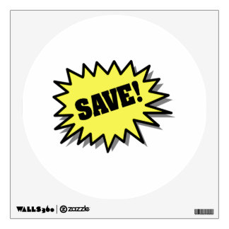 Yellow Save Wall Decal
