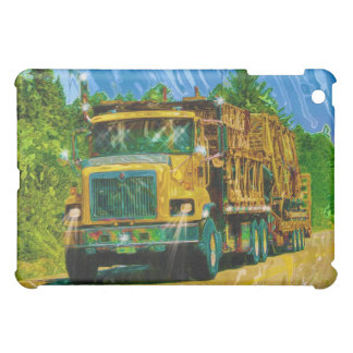 Yellow Scaffolding Freight Truck Driver iPad Case
