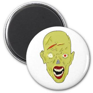 yellow scarred zombie fridge magnets