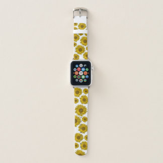 Yellow Scattered Sunflowers Apple Watch Band