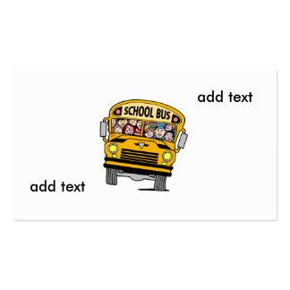 school bus driver business cards templates zazzle. Black Bedroom Furniture Sets. Home Design Ideas