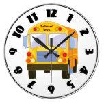 Yellow School Bus Clock