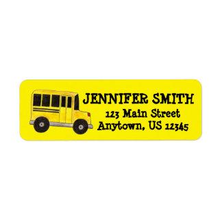 Yellow School Bus Driver Education Teacher Labels