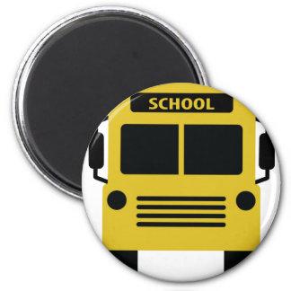 yellow school bus icon magnet