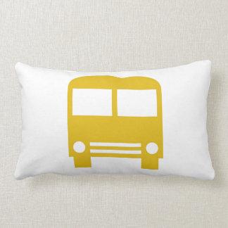 Yellow School Bus Lumbar Pillow