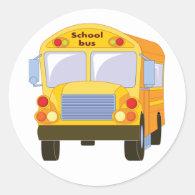 Yellow School Bus Stickers