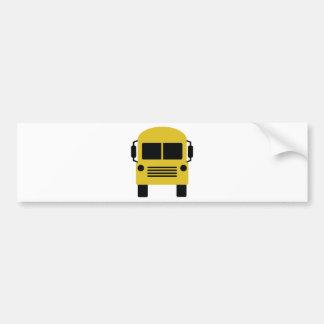 yellow school bus symbol bumper sticker
