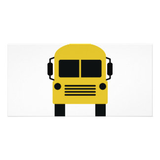 yellow school bus symbol card
