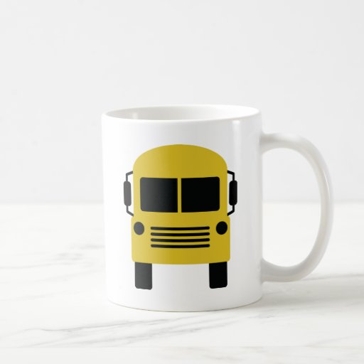 yellow school bus symbol classic white coffee mug