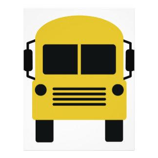 yellow school bus symbol flyer