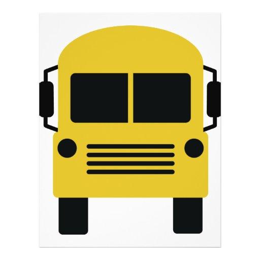 yellow school bus symbol full color flyer : Zazzle