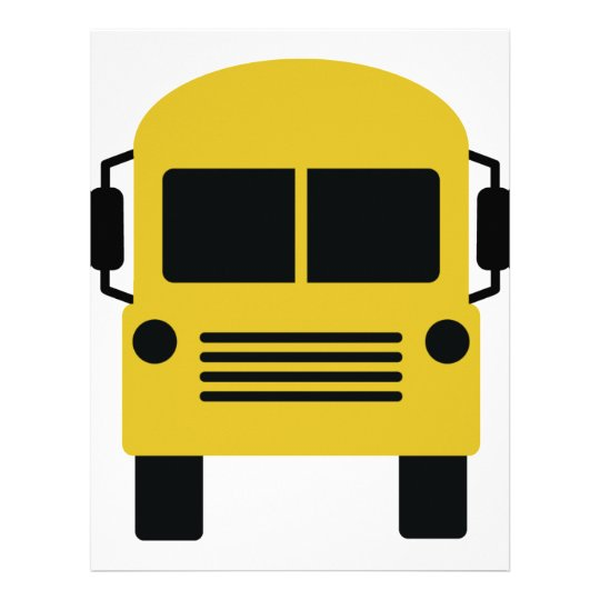 yellow school bus symbol letterhead