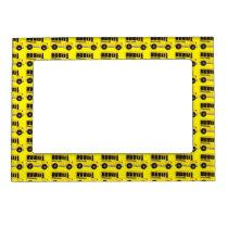 Yellow School Bus Teacher Driver Transportation Magnetic Frame
