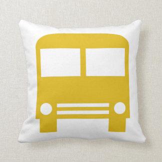 Yellow School Bus Throw Pillow