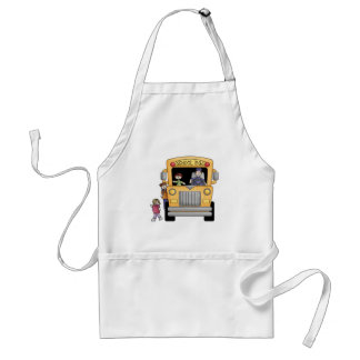 Yellow School Bus Tshirts and Gifts Aprons
