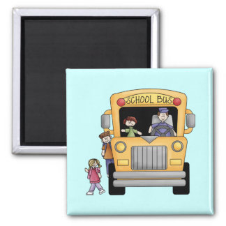 Yellow School Bus Tshirts and Gifts Fridge Magnet